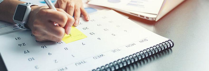Créer des calendriers en ligne