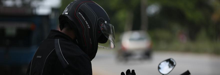 Le casque de moto modulable