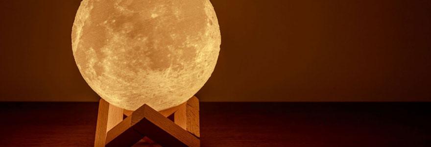 Les effets de la lampe lune